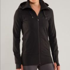 Lululemon Stride Jacket II NWT, Size 6, heather gray w/ hood. No rip tag inside.  From smoke free home. Soft and comfy! lululemon athletica Tops Sweatshirts & Hoodies