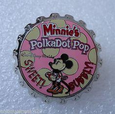 Disney WDW Soda Pop Series Minnie's Polka Dot Pop Pin-Official 2003 Pin Trading