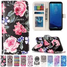 Painted Stand Flip PU Leather Wallet Card Case Cover For Samsung S7 S8 J310 J510 #UnbrandedGeneric