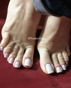 No photo description available. Pretty Toe Nails, Cute Toe Nails, Sexy Nails, Sexy Toes, Pretty Toes, Acrylic Toes, Long Toenails, Nice Toes, French Pedicure