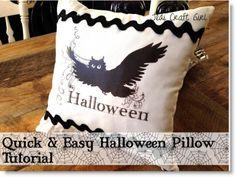 Halloween Pillow Tutorial
