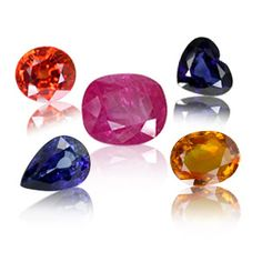 Sapphire. The corundum family of gem stones is large and colourful, but for a long time people only seemed to know about the cornflower blue and the red. The red ones are rubies, all the rest are sapphires...pink, many blues, yellow, and the rare padparadscha in pink-orange, and star, all exquisite.