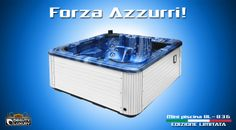 """Hot tub BL-836 """"GO ITALY"""" - Limited Edition.  A unique and exclusive way to cheer for Italy at the World Cup 2014!"""