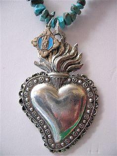 Vintage Dia de los Muertos Necklace.