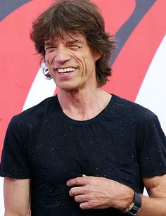 mick jagger... so personable and good spirited.