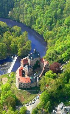 Kriebstein Castle and dam, Saxony, Germany