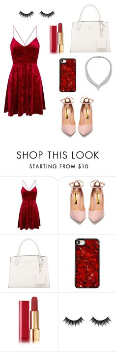 """""""red summer outfit"""" by keita1729303733 ❤ liked on Polyvore featuring Rupert Sanderson, Chanel and Morphe"""