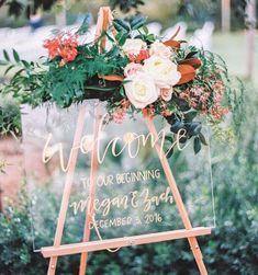 "4,814 Likes, 42 Comments - WeddingWire (@weddingwire) on Instagram: ""We couldn't be more in love with the lucite details trend lately, and this welcome sign is…"""