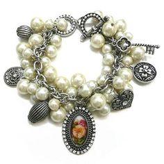 Fashion Charm Bracelet: Sierra Western Wear #western #accessories #pearls