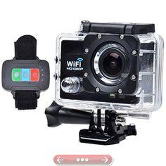 Campark WiFi Full HD 1080P Waterproof Sports Camera Black30M UnderwaterWrist Remote Control LED Night Vision170 Degree Lens 2 Inch Screen