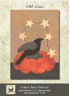 Old Crow kit  pattern included by BearHollowQuilts on Etsy