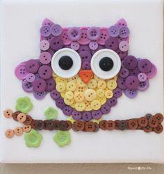 Owl Button Art / Repeat CrAfter Me