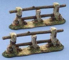 "5"" fontanini  villages | Roman Pack of 4 Fontanini 5"" Nativity Village Fences Sets #54320 ..."