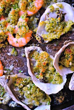 Huîtres & Crevettes en Panure de Coriandre,Gingembre et Citron Vert/Oysters,bread crumbs,butter,ginger,lime,coriander