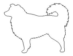 Rottweiler pattern. Use the printable outline for crafts