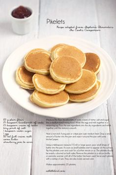 pikelet recipe adapted from Stephanie Alexander. Added 2 tbsn apple puree before cooking - delicious! Aussie Food, Australian Food, Australian Recipes, Crepes And Waffles, Mini Pancakes, Pikelet Recipe, Churros, Afternoon Tea, Sweet Recipes