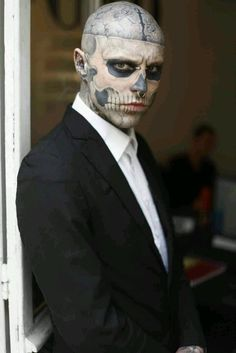 Rick Genest, zombie boy This guy is just intense. I'm so fascinated with him
