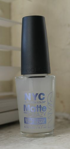 NYC Matte Me Crazy - Turns any gloss nail polish into matte. Really works...I tried it! Only 1.72 at Target :-)