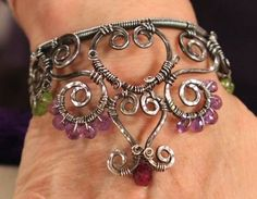 Princess, Queen, or Wonder Woman? Make a Wire Crown Cuff and Find Out! - make this wire and gemstone crown cuff bracelet by Janice Berkebile - Jewelry Making Daily