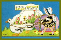 Children and Duck Wagon by Olde America Antiques. Children and Duck Wagon EASTER from Olde America Antiques Online. Postcard Printing, Antiques Online, Vintage Easter, Old Postcards, Illustration Art, Illustrations, Vintage Images, Quilt Blocks, Quilts
