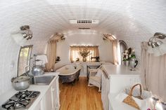 Revamped vintage airstream...you could live in something like this