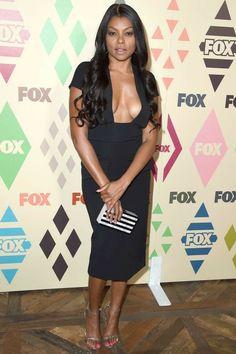 Taraji P Henson Celebrity Red Carpet, Celebrity Dresses, Celebrity Style, Celebrity Women, Celebrity Beauty, Girl Celebrities, Celebs, Beautiful Celebrities, Sexy Dresses