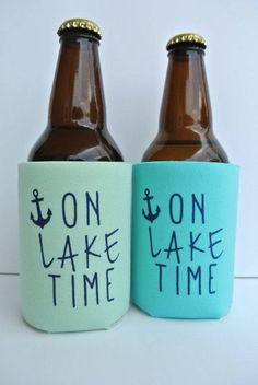 On Lake Time Koozie #laketime #onthelake #onlaketime #koozie