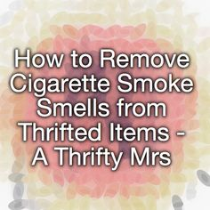 how to clean cigarette smoke from house