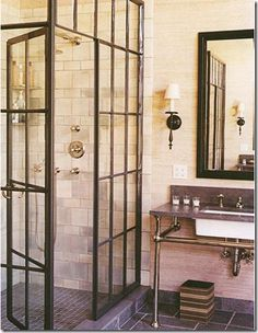 I want this door frame situation for my shower.