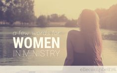 A Few Words for Women in Ministry - Elle Campbell | Fresh Youth Ministry Ideas & Ready-To-Use Resources