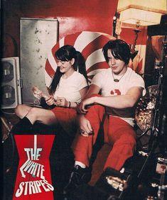 Jack and meg white Meg White, Jack White, Red And White, Music Love, Music Is Life, Rock Music, The White Stripes, White Strips, Shades Of White