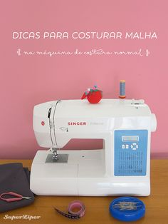 Tips for Sewing Home Machine Knitting - Ideias para a casa - Dicas Love Sewing, Baby Sewing, Sewing Hacks, Sewing Crafts, Sewing Tips, Costura Diy, Sewing Patterns For Kids, Patch Quilt, Sewing Projects For Beginners