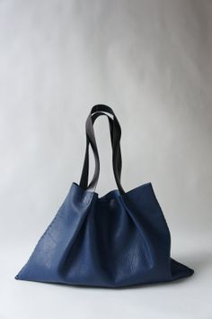 Odeon Leather Bag  Blue by stitchandtickle on Etsy