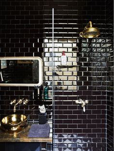 Black subway tile. I would do dark grout too