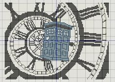 Buzy Bobbins: Doctor Who intro - Peter Capaldi version - cross stitch design