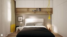 Ściana za łóżkiem w sypialni - Make Home Prettier