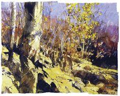 Risultati immagini per David Tress Landscape Painting Images, Watercolor Landscape, Abstract Landscape, Watercolour, Advanced Higher Art, High Art, Art Graphique, Texture Art, Tree Art