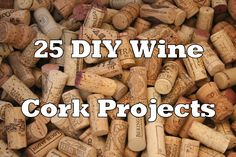 diy projects | 25 DIY Wine Cork Craft Project Ideas