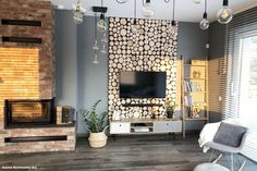Since its introduction into the homes in the mid century, the television screen becomes almost inseparable part from the main social areas design, lately, Tv Wall Design, House Design, Tv Wanddekor, Modern Tv Wall, Wooden Tv Stands, Tv Wall Decor, Urban Decor, Half Walls, Sliding Panels