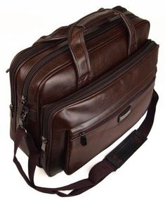 df09457bf4 Mens Womens Ladies Business Briefcase Laptop Work Carry Case Holdall Bag  (Brown)  Amazon