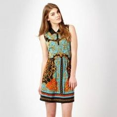 Red Herring turquoise leaf shirt dress #summer #holiday