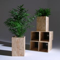 OSB Planters - like butter Handmade Furniture, Diy Furniture, Furniture Design, Chipboard Interior, Osb Wood, Wood Crafts, Diy And Crafts, Wooden Crates, Planer