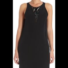 3.1 Phillip Lim Sequin Jewel Neck Panel Dress Pretty jewel embellished silk dress. Silk she'll and liner. NWT. Perfect condition. Functional pockets. Sheer side and back panels. Keyhole button back neck closure. 3.1 Phillip Lim Dresses Mini
