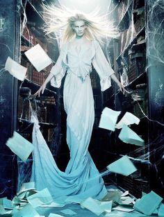 White witch Querelle Jansen by Miles Aldridge