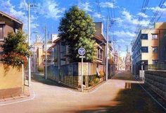 """Background paintings from """"The Girl who Leapt through Time"""" (時をかける少女), the 2006 masterpiece-film directed by Mamoru Hosoda (細田守). Scenery Background, Animation Background, Scenery Wallpaper, Wallpaper Art, The Girl Who Leapt Through Time, Bg Design, Anime Places, Anime City, Episode Backgrounds"""