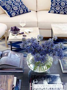 blue & white interior design