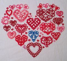 Since it is Valentine's Day, I thought I would post a heart instead of a snowflake. :) Some of these I'd made previously, and some I was in...