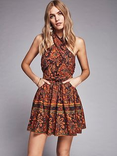 New Romantics New Romantics Lazy Luau Dress at Free People Clothing Boutique Day Dresses, Casual Dresses, Short Dresses, Summer Dresses, Luau Dress, Dress Up, Bohemian Mode, Bohemian Style, Bohemian Summer