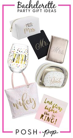 Bachelorette Party Gift Ideas for the bride-to-be.