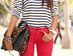 Like the red and the stripes and the leopard together:)
